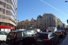 De bezige mening van het stadsverkeer, Barcelona royalty-vrije stock foto