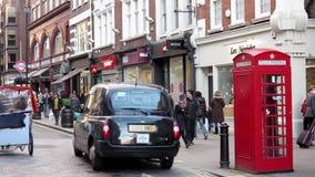 De bezige straat van Londen stock videobeelden