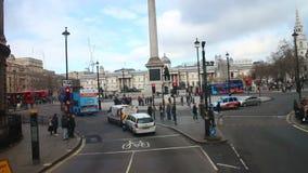 De bezige straat van Londen stock video