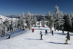 De bezige Toevlucht van de Ski Royalty-vrije Stock Fotografie