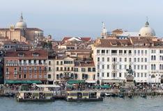 De Bezige Waterkant van Venetië Royalty-vrije Stock Foto's