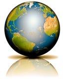 De Bezinning van de aarde Royalty-vrije Stock Foto