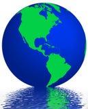 De bezinning van de aarde Stock Foto's