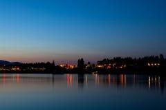 De Bezinning van de Lichten van de stad Royalty-vrije Stock Fotografie