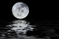 De bezinning van de maan stock foto