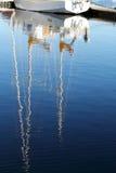 De bezinning van de Mast van het jacht Royalty-vrije Stock Afbeelding