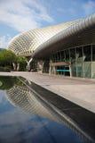 De bezinning van de promenade in Singapore royalty-vrije stock foto's