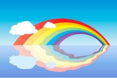 De bezinning van de regenboog Stock Illustratie