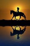 De Bezinning van de Rit van het paard Stock Afbeelding