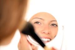 De bezinning van de spiegel Stock Afbeelding