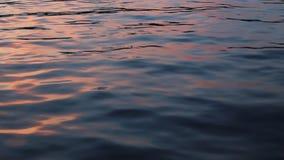 De bezinning van de waterzonsondergang/zonlicht stock videobeelden