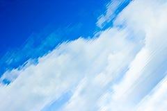 De Bezinning van de wolk Stock Foto's