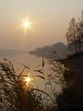 De bezinning van de zon Stock Fotografie