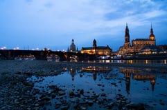 De bezinning van Dresden Stock Foto