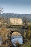 De bezinning van het Chatsworthhuis stock afbeeldingen
