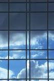 De bezinning van het glas Stock Afbeeldingen