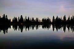 De bezinning van het meer Stock Afbeelding
