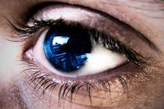 De bezinning van het oog stock foto's
