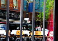 De bezinning van het restaurant (onduidelijk beeld) Royalty-vrije Stock Foto's
