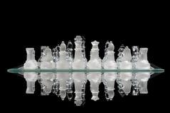 De Bezinning van het Spel van het schaak Stock Foto's