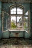 De bezinning van het venster Stock Foto's