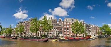De bezinningen van Amsterdam, Holland Royalty-vrije Stock Afbeeldingen