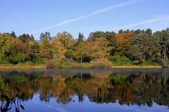 De bezinningen van de herfst Stock Afbeeldingen