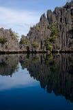 De bezinningen van de lagune Stock Afbeelding