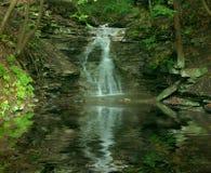 De Bezinningen van de waterval stock fotografie