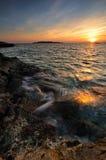 De bezinningen van de zonsondergang Royalty-vrije Stock Foto's
