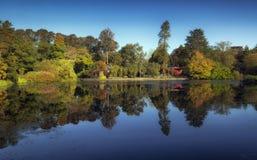 De bezinningen van het Brynmillpark royalty-vrije stock foto