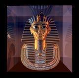 De bezinningen van het de doodsmasker van de farao Stock Fotografie