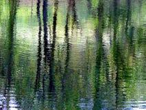 De Bezinningen van het water Stock Afbeeldingen