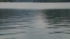 De Bezinningen van het watermeer stock video