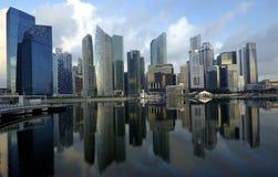 De Bezinningen van Singapore CBD Royalty-vrije Stock Foto