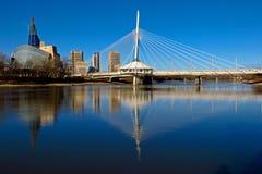 De bezinningen van Winnipeg Stock Foto