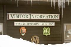 De bezoekers centreren in West Yellowstone, Montana Stock Fotografie