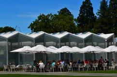 De bezoekerscentrum van Christchurch Botanisch Tuinen - Nieuw Zeeland stock foto