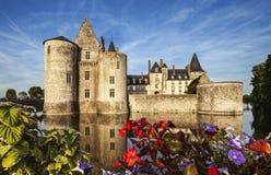 De bezwalkenen-sur-Loire. Frankrijk. Chateau van de de Loire-Vallei. Stock Afbeelding