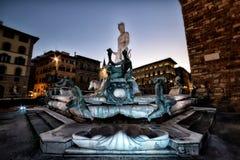 ` de Biancone del ` de Florence La Fontana del Nettuno Imagen de archivo libre de regalías