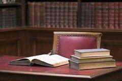 In de bibliotheek Stock Foto's