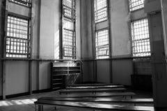 De bibliotheek in Alcatraz Royalty-vrije Stock Foto's