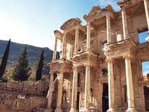 De bibliotheek in Ephesus Stock Foto