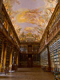 De bibliotheek Strahov in Praag. Stock Afbeeldingen