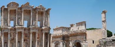 De bibliotheek van Celsius in Efesus dichtbij Izmir Royalty-vrije Stock Fotografie