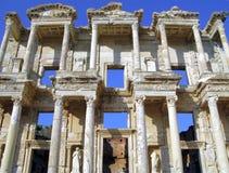 De Bibliotheek van Celsus Stock Afbeeldingen