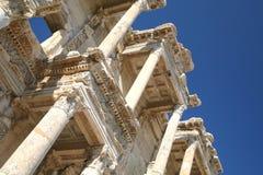 De Bibliotheek van Celsus, Ephesus Stock Foto's