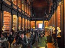 De Bibliotheek van de drievuldigheidsuniversiteit in Dublin Royalty-vrije Stock Afbeeldingen