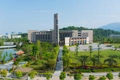 De Bibliotheek van de FuZhouuniversiteit Stock Foto