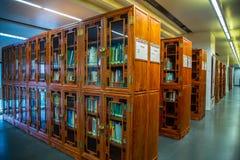 De bibliotheek van de Guangzhoustad, Guangdong, China Stock Foto's